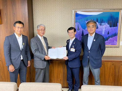 大塚学区開発委員会 要望書提出
