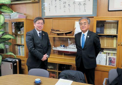 愛知県立三谷水産高校表敬訪問