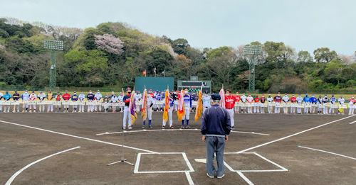 蒲郡野球協会総合開会式